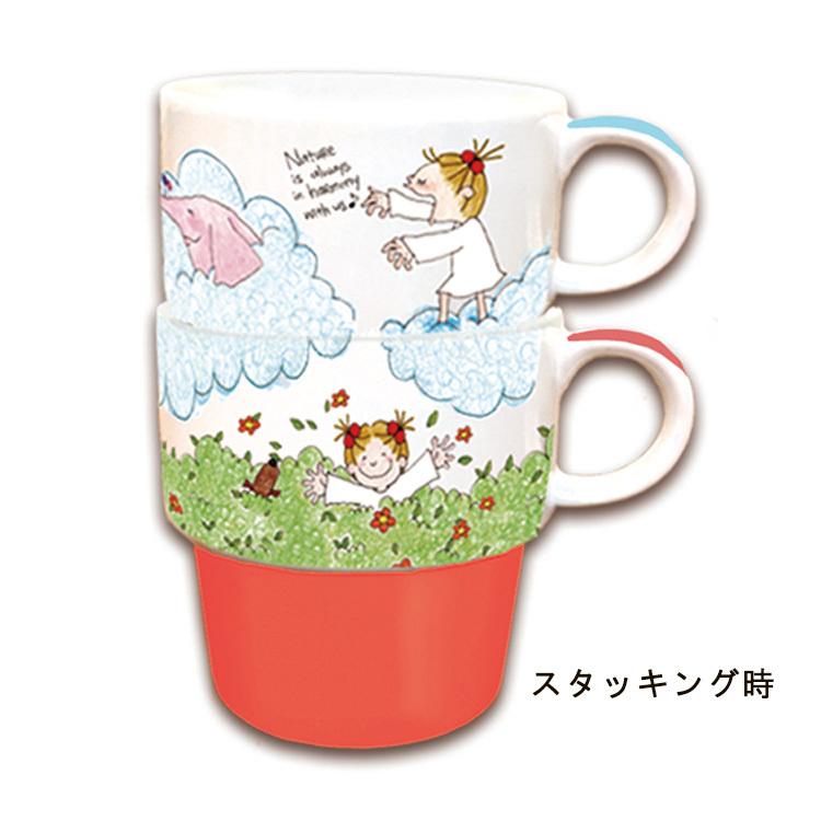 新品 COCOちゃん ココちゃん スタッキング ペアマグカップ セット お祝い_画像2