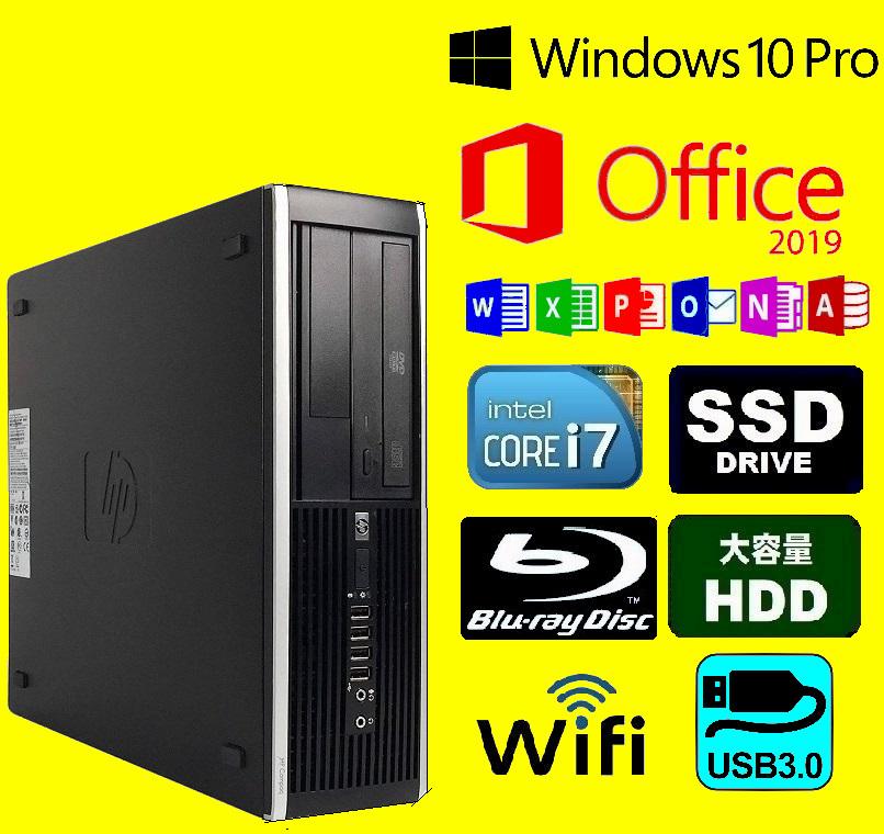 メモリ32GB/ ブルーレイ/ Corei7 3770/ SSD 960GB/ HDD2TB(2,000GB)/ 無線LAN/ Office2019/ メディア15/ WIN10PRO/ 税無/ フル装備!