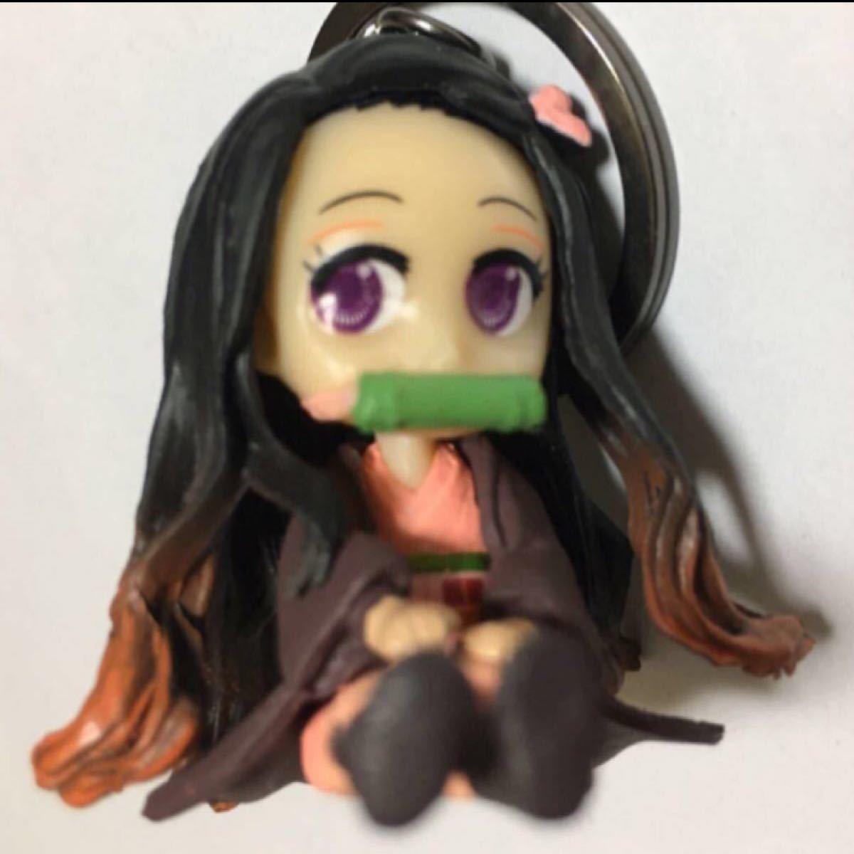 禰豆子(ねずこ)フィギュアキーホルダー/鬼滅の刃/キーリング/キーチェーン