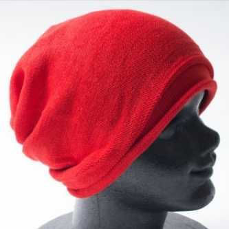 コットン ニット帽 ニットキャップ サマーニット帽 M レッド 赤色 メンズ レディース ワッチ 通気性 帽子 男女兼用 オールシーズン