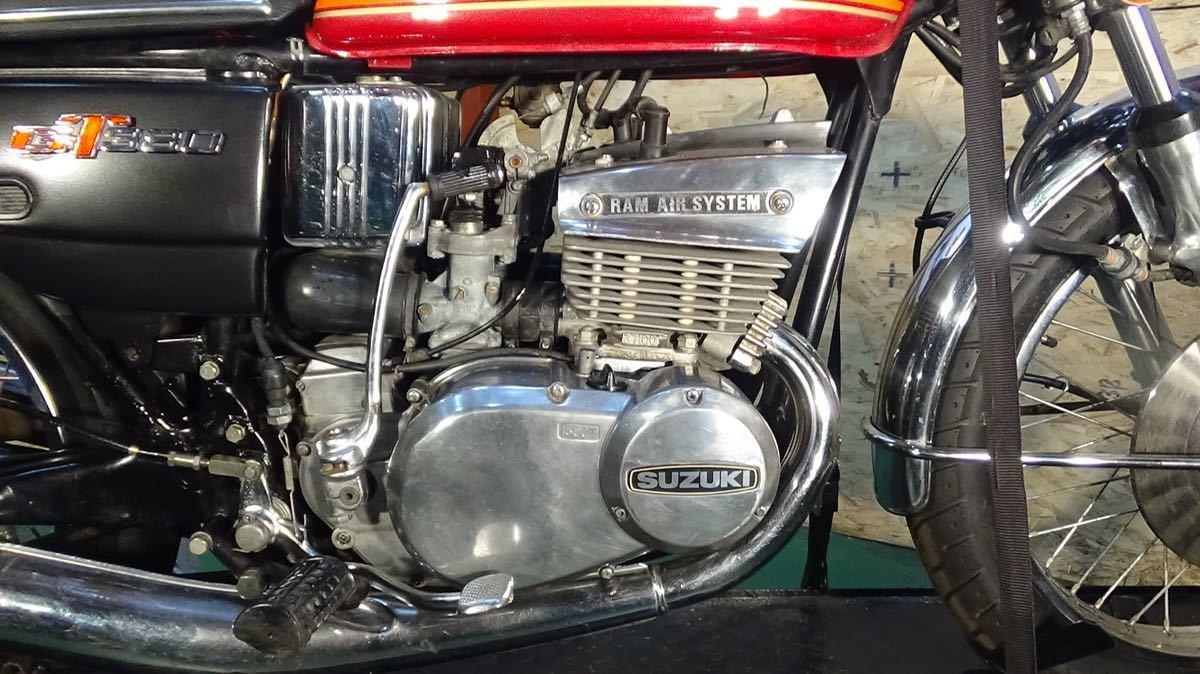 【ローン可】SUZUKI GT380 昭和51年 1976年 旧車 GT/GT380/GT750 希少 スズキ_画像3