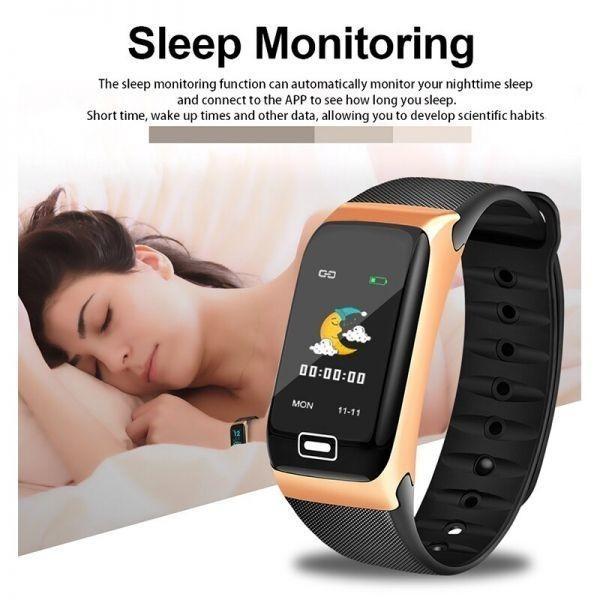 Ligeホット販売スマート腕時計スポーツスマートバンド血圧計スマートリストバンドスマートウォッチブレスレット男性女性 black_画像5