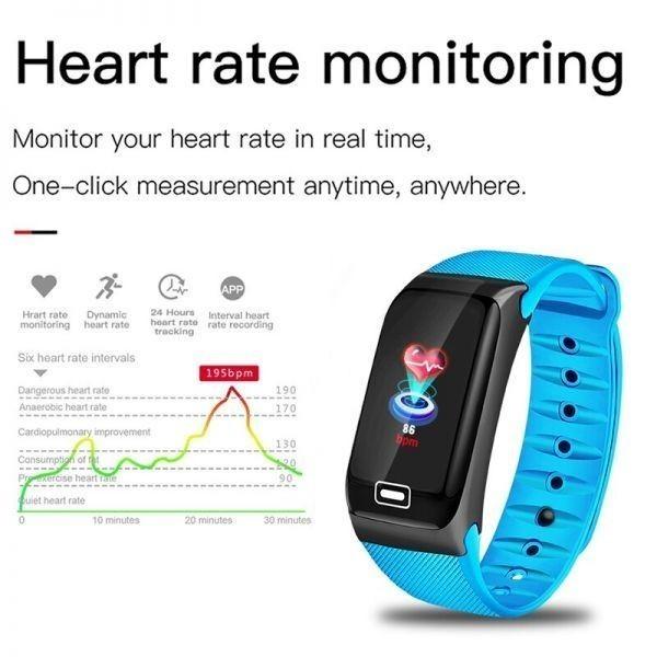 Ligeホット販売スマート腕時計スポーツスマートバンド血圧計スマートリストバンドスマートウォッチブレスレット男性女性 sliver_画像6