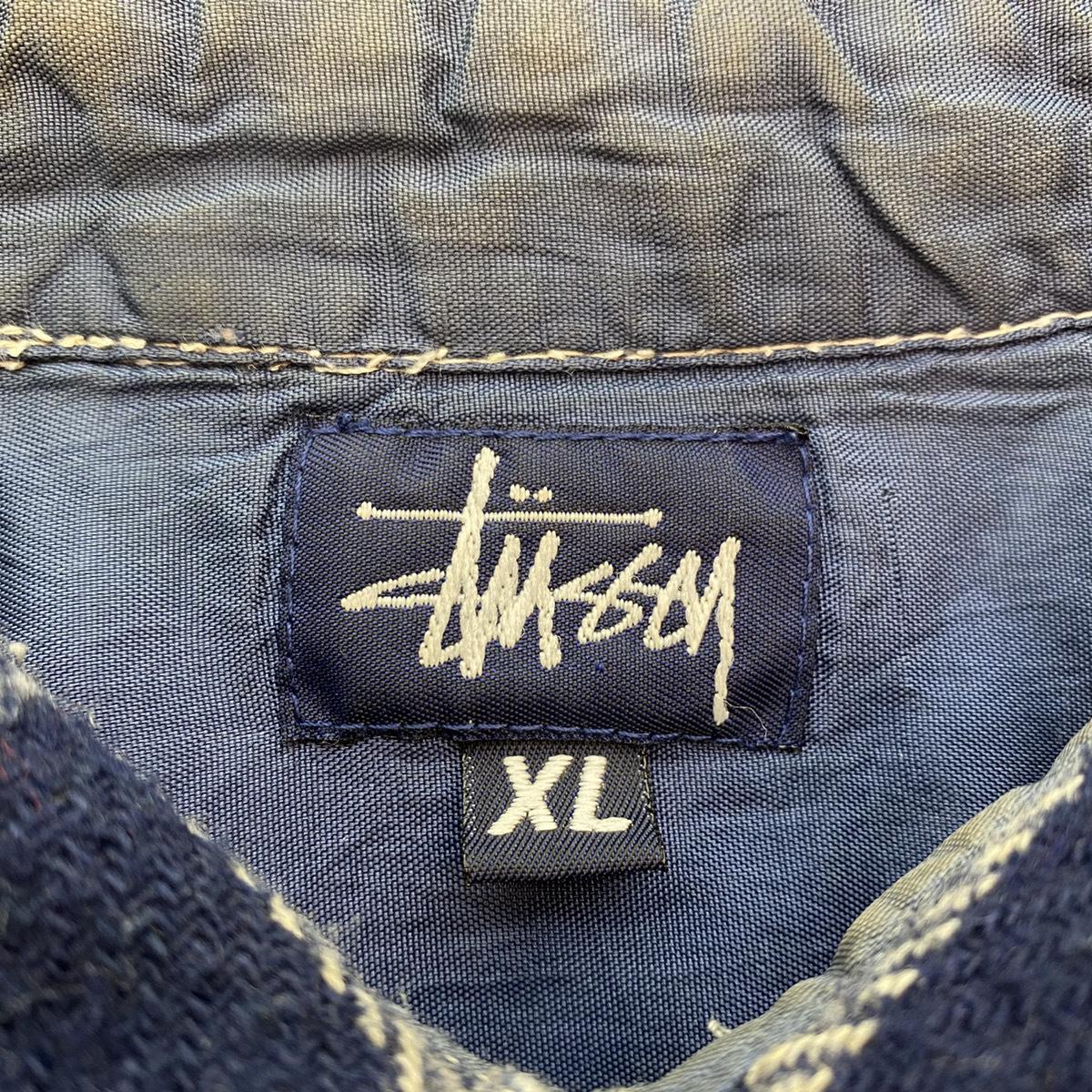 ●Stussy ステューシー OLD Stussy オールドステューシー 90s 90年代 紺タグ チェック ウール シャツ USA製 MADE IN USA 104_画像8