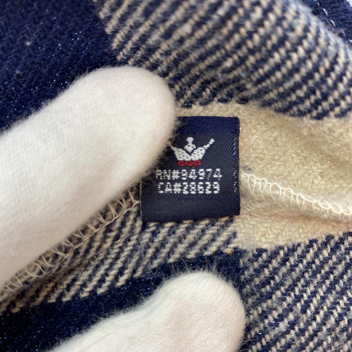 ●Stussy ステューシー OLD Stussy オールドステューシー 90s 90年代 紺タグ チェック ウール シャツ USA製 MADE IN USA 104_画像7