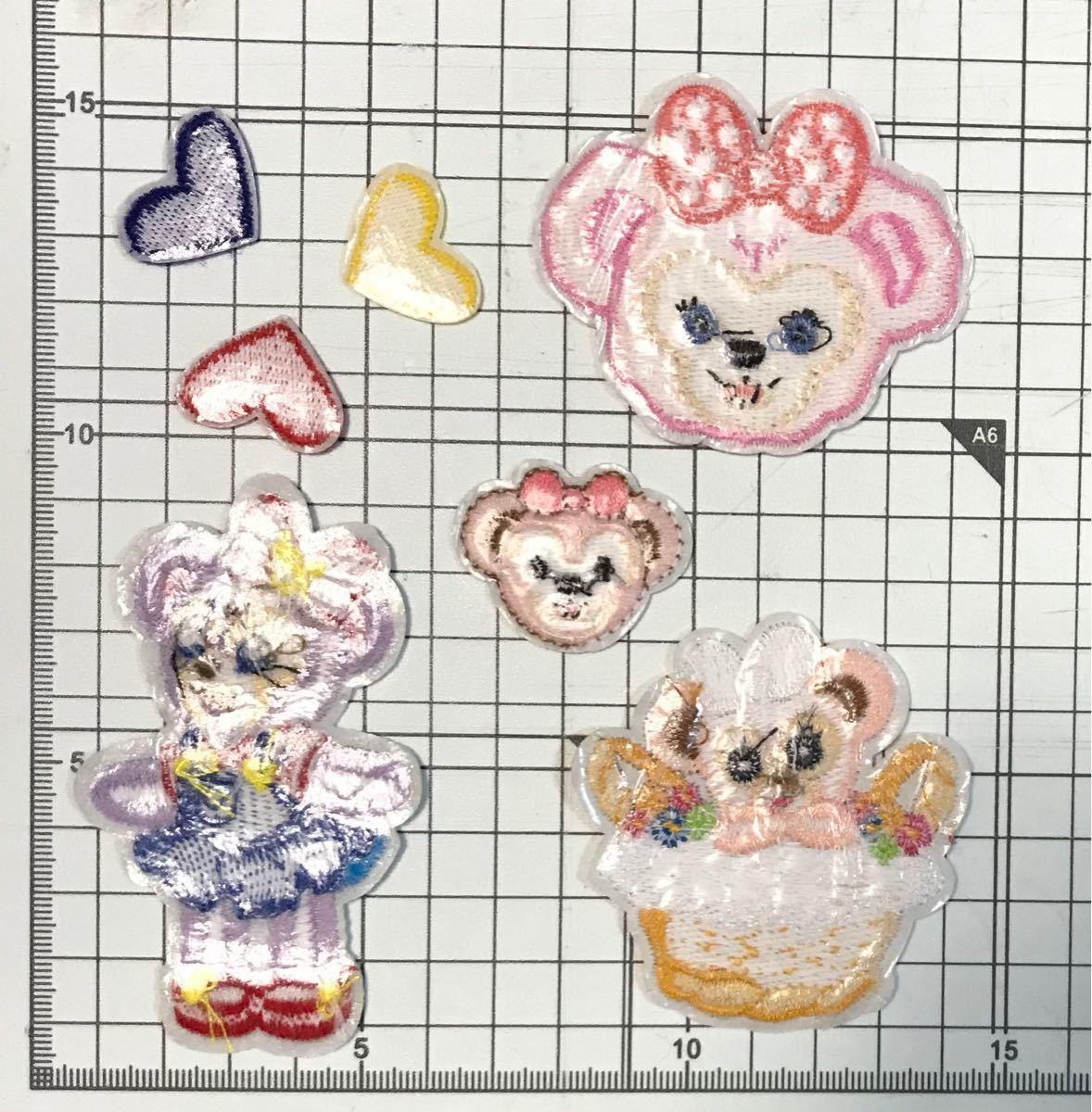 アイロンワッペン 刺繍ワッペン シェリーメイ4+ハート3 計7枚セット