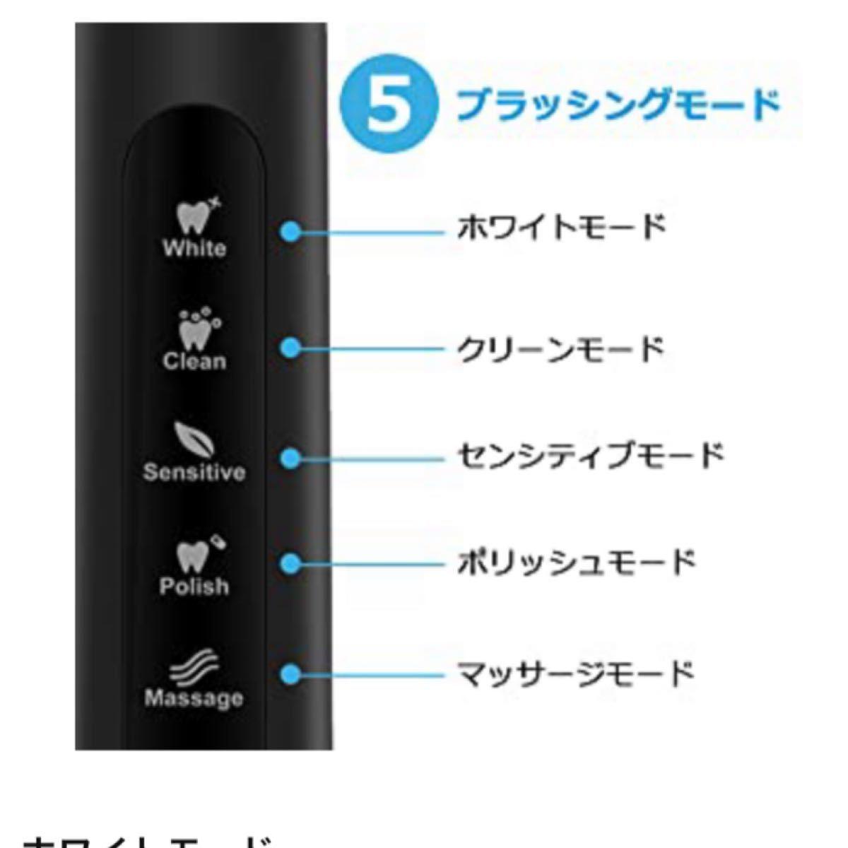 【新品】3本セット 電動歯ブラシ 歯ブラシ Fairywill 音波歯ブラシ 充電式 ホワイト ソニック IPX7防水