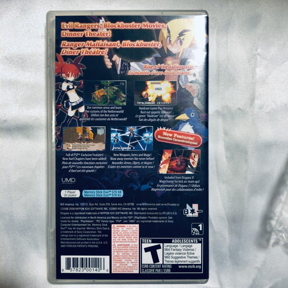 魔界戦記ディスガイア2 Disgaea2 Dark Hero Days 海外版 PSP