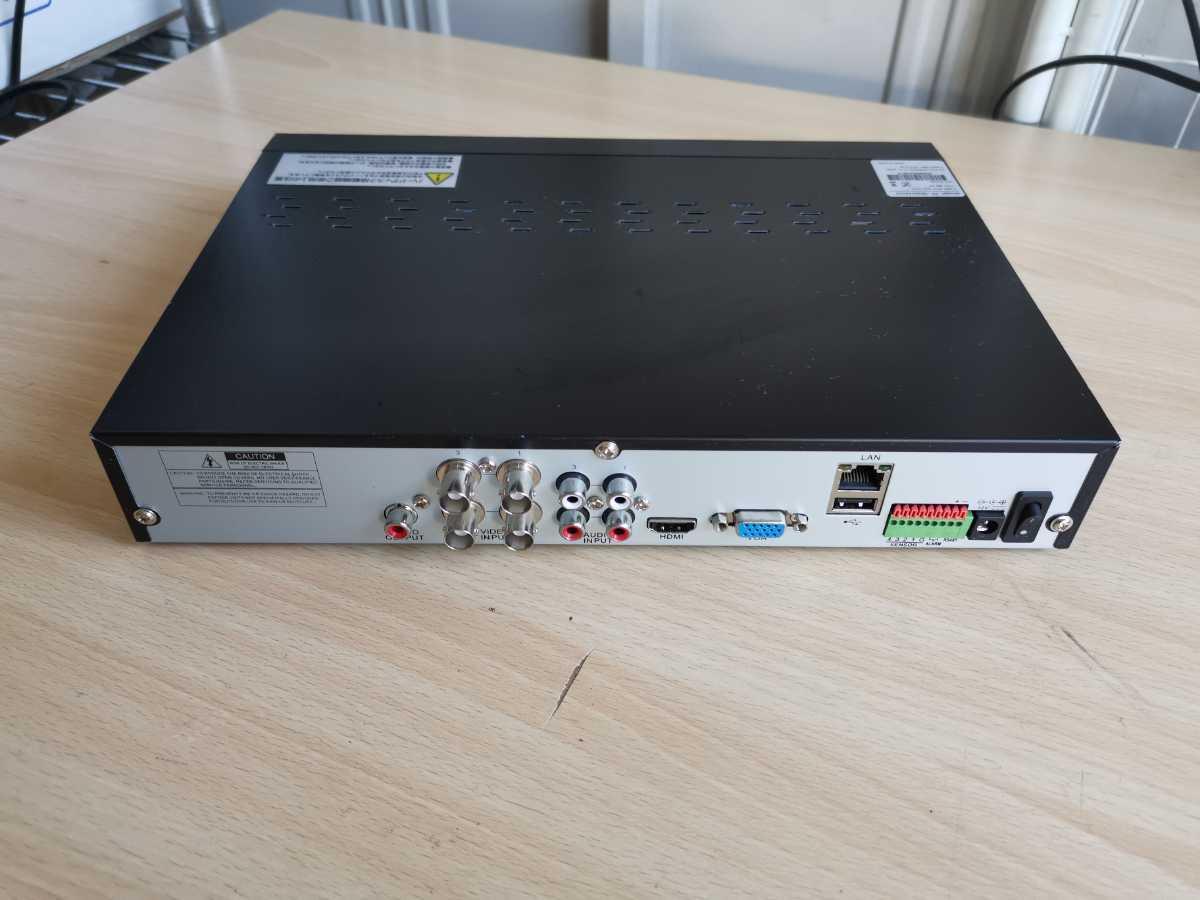日本防犯システム JAPAN SECURITY SYSTEM 4ch デジタルレコーダー PF-RN004AHD 通電のみ ジャンク扱い 部品取り 現状販売_画像5