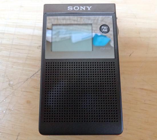 美品 ソニー FM/AMラジオ ポケットラジオ PLLシンセサイザーラジオ SONY SRF-R356