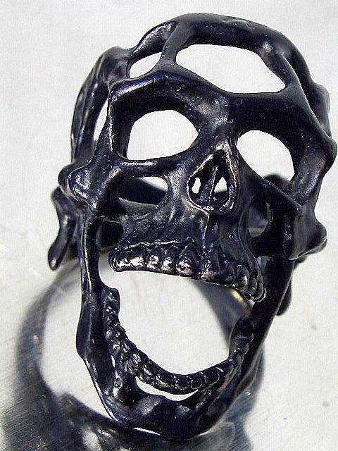 卍Silver 925 Sterling silver 925 3D skeleton VINTAGE 個性的な怪しい骸骨 髑髏 バイカー野郎&ヘビメタ ロッカーに捧げるスカルリング_画像5