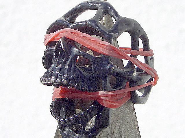 卍Silver 925 Sterling silver 925 3D skeleton VINTAGE 個性的な怪しい骸骨 髑髏 バイカー野郎&ヘビメタ ロッカーに捧げるスカルリング_画像3
