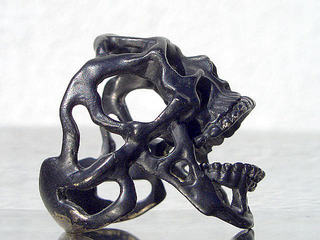 卍Silver 925 Sterling silver 925 3D skeleton VINTAGE 個性的な怪しい骸骨 髑髏 バイカー野郎&ヘビメタ ロッカーに捧げるスカルリング_画像4