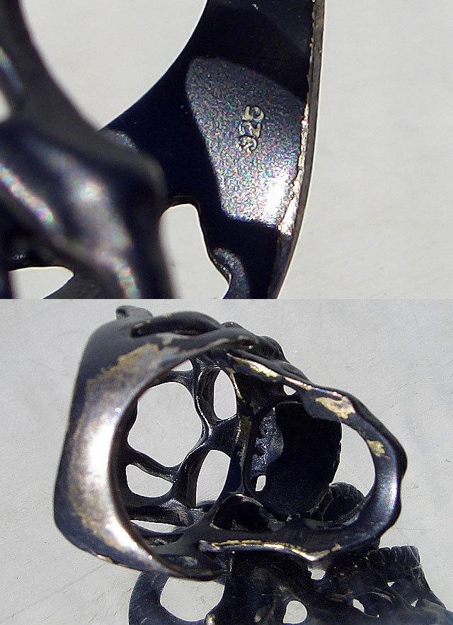 卍Silver 925 Sterling silver 925 3D skeleton VINTAGE 個性的な怪しい骸骨 髑髏 バイカー野郎&ヘビメタ ロッカーに捧げるスカルリング_画像8