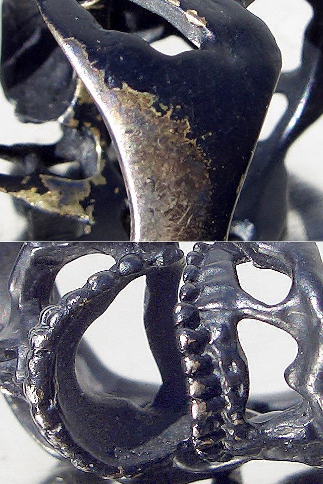 卍Silver 925 Sterling silver 925 3D skeleton VINTAGE 個性的な怪しい骸骨 髑髏 バイカー野郎&ヘビメタ ロッカーに捧げるスカルリング_画像9