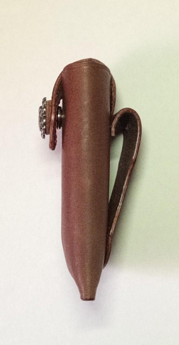 折りたたみナイフホルダーオリジナルデザインヌメ革