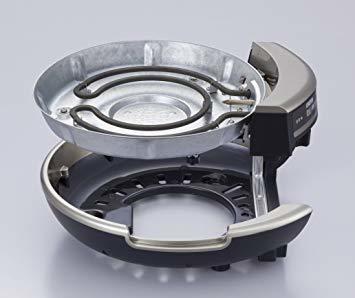 ブラック タイガー グリル鍋 5.0L プレート 3枚 タイプ 深鍋 たこ焼き 焼肉 プレート ガラス蓋 付き CQD-B300_画像2