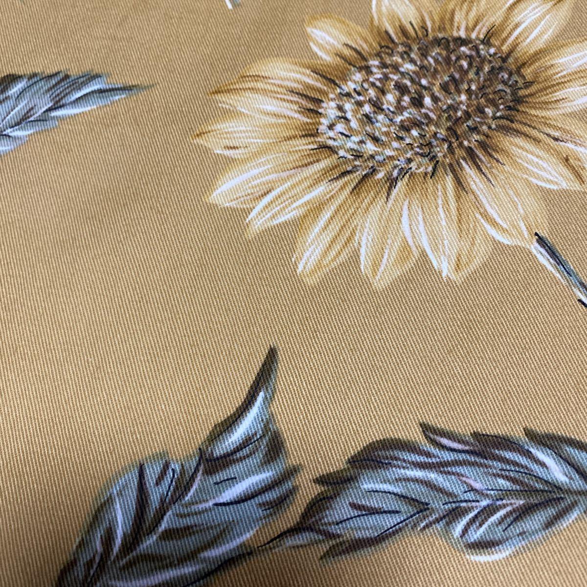 布 生地 はぎれ 綿 綿100%  ひまわり 花柄