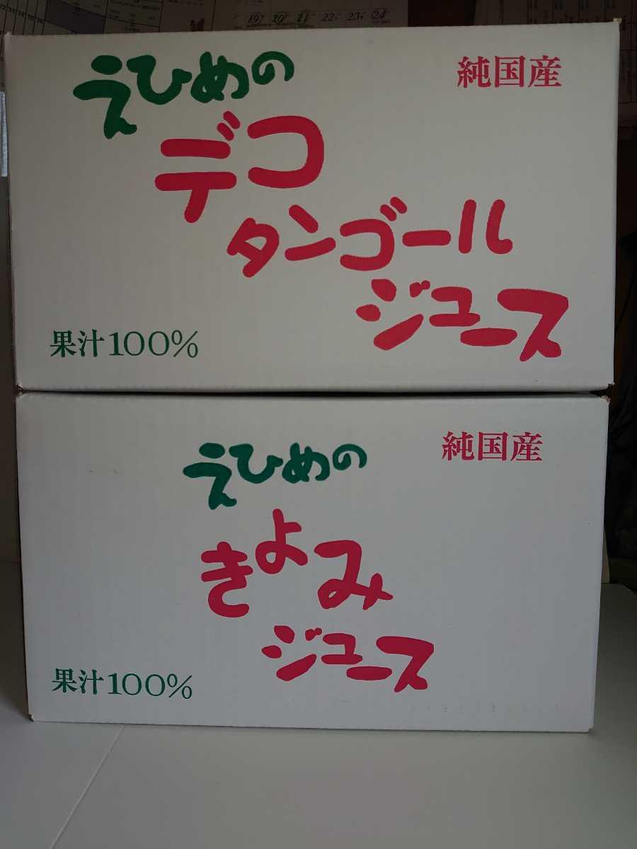 愛媛県産100%ストレート果汁あま~い!味比べ3種セットみかん、きよみ、デコタン(不知火)500㎜3種×12本入_画像5