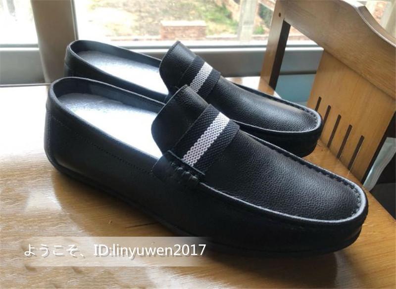 新品★ローファー メンズ スリッポン カジュアル ドライビング 紳士靴 合成革靴 滑り止め「24cm-27cmサイズ選択」黒_画像8