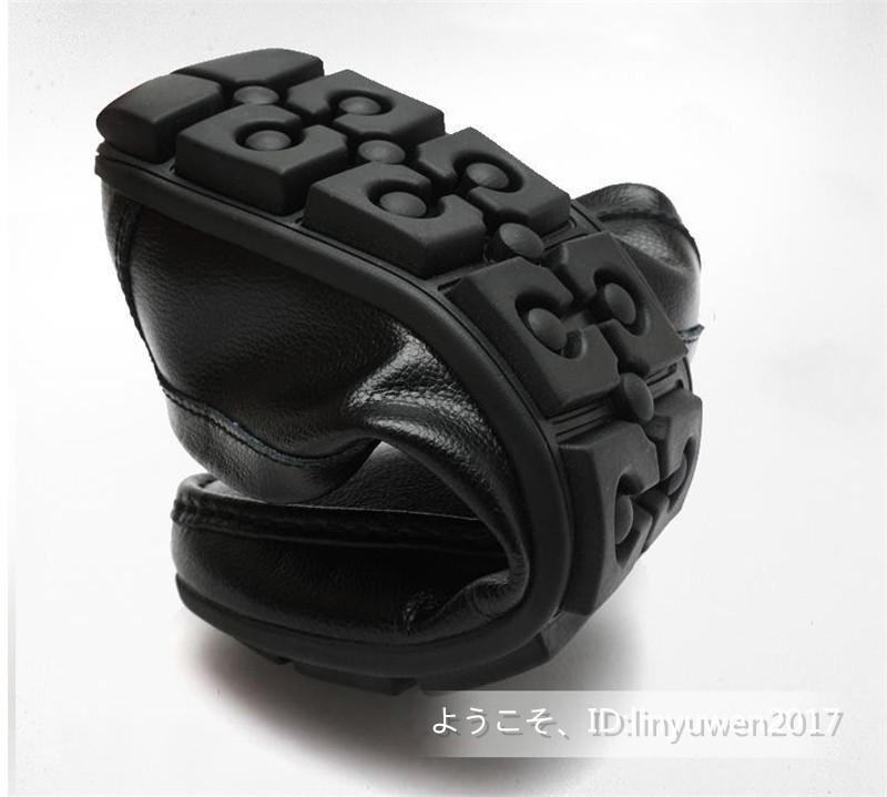 新品★ローファー メンズ スリッポン カジュアル ドライビング 紳士靴 合成革靴 滑り止め「24cm-27cmサイズ選択」黒_画像7