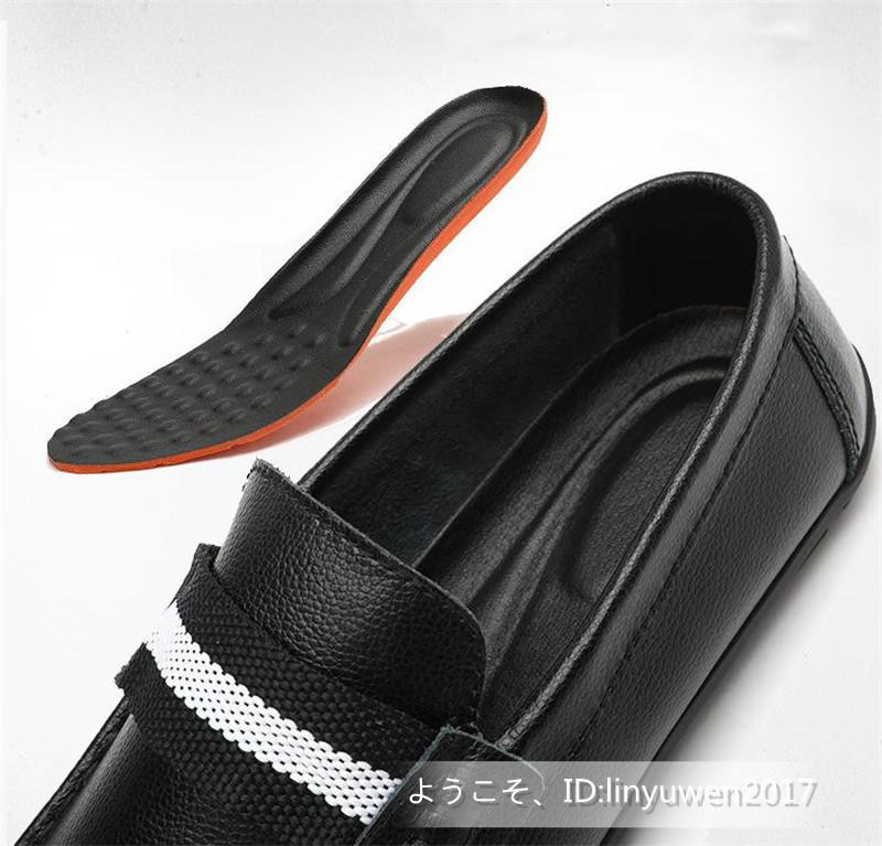 新品★ローファー メンズ スリッポン カジュアル ドライビング 紳士靴 合成革靴 滑り止め「24cm-27cmサイズ選択」黒_画像5