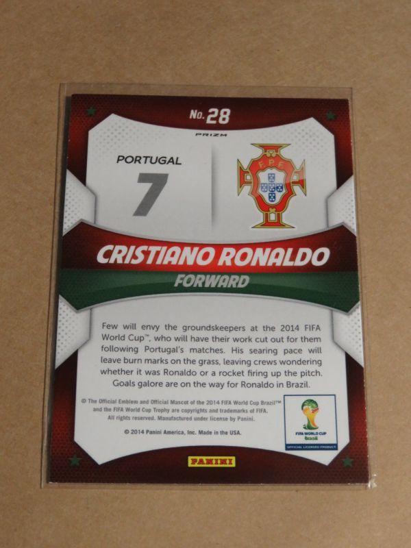 2014 Panini Prizm Soccer 28 Cristiano Ronaldo Silver Stars FIFA World Cup クリスティアーノ・ロナウド Portugal_画像2