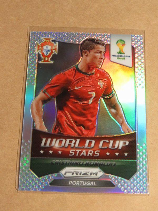 2014 Panini Prizm Soccer 28 Cristiano Ronaldo Silver Stars FIFA World Cup クリスティアーノ・ロナウド Portugal_画像1