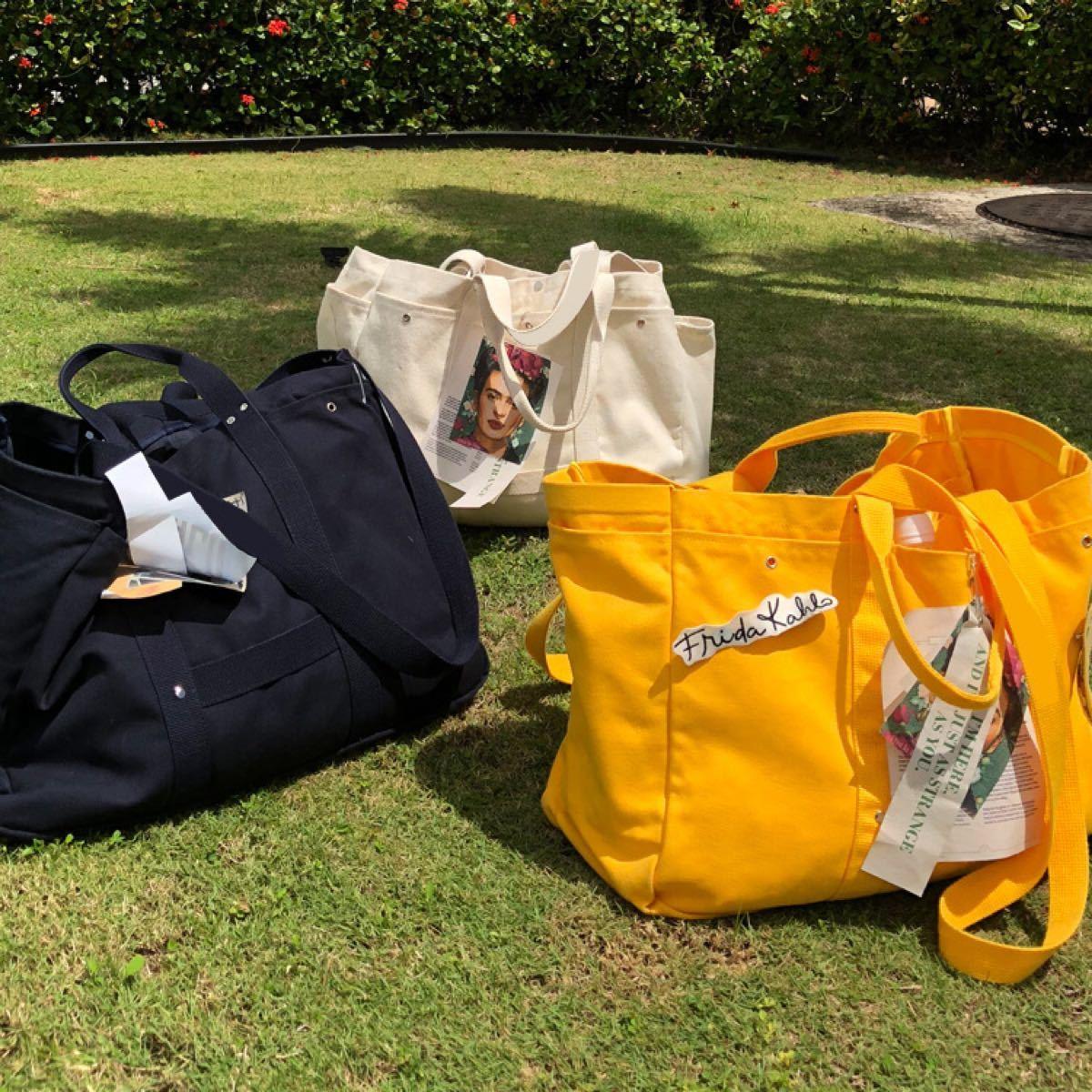 レディース メンズ  キャンバスバッグ トートバッグ大容量 ハンドバッグ かばん