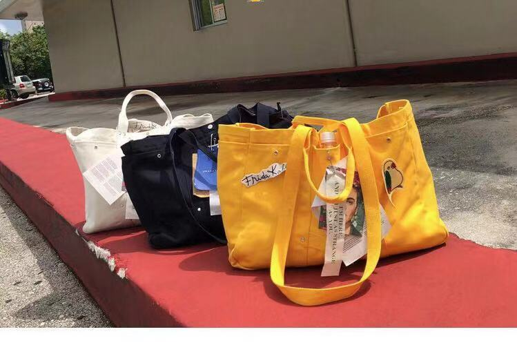 レディース メンズ キャンバスバッグ トートバッグ 大容量 ハンドバッグ かばん 黒