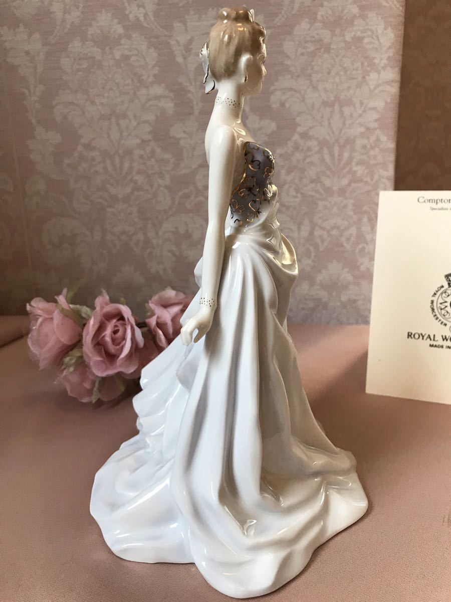 〈送料込〉〈限定品〉ロイヤルウースター フィギュリン 証明書 Royal Worcester 陶器人形 フィギュア ドレス レディ 貴婦人 1998_画像3