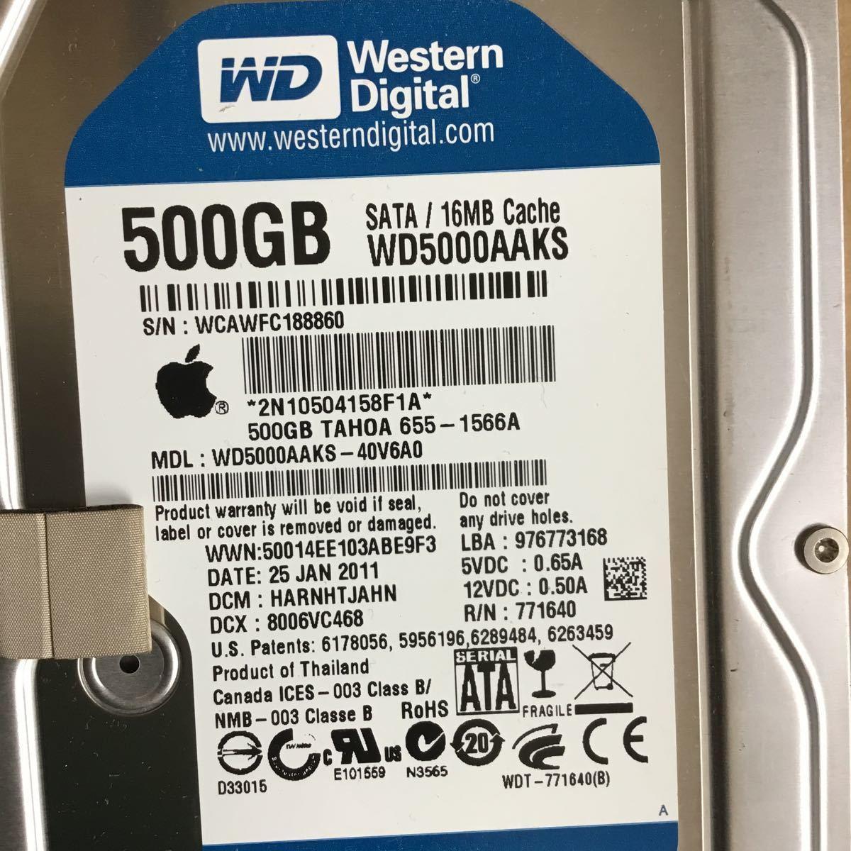 Apple純正 500GB HDD 中古 動作確認済み_画像3