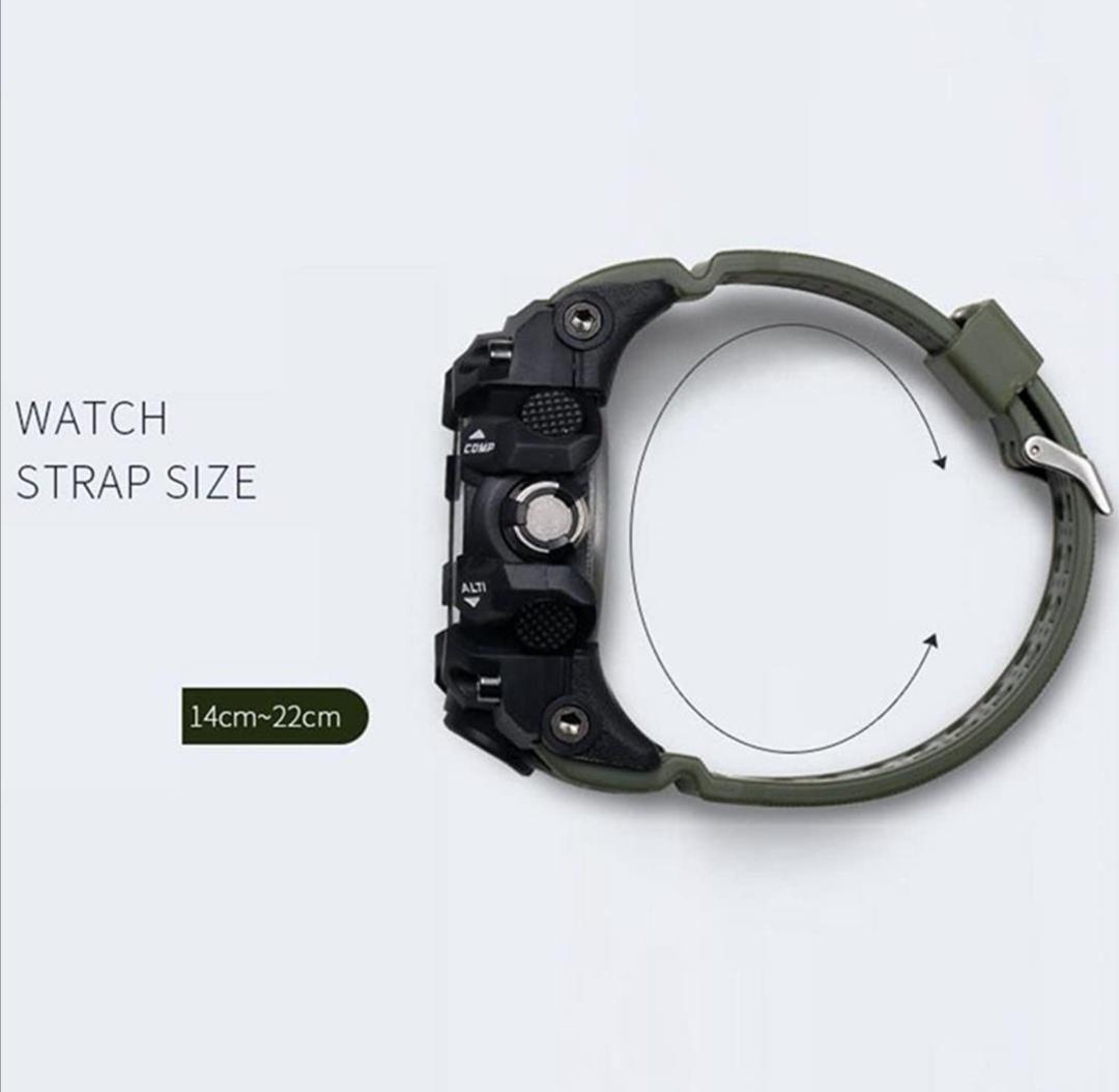 SMAELスマイル腕時計 メンズ メンズウォッチ 防水 スポーツ アナログ表示 デジタル クオーツ腕時計 多機能 ミリタリー ライト 運動腕時計_画像6