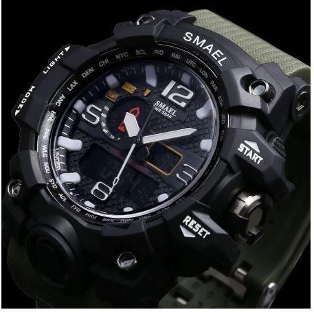 SMAELスマイル腕時計 メンズ メンズウォッチ 防水 スポーツ アナログ表示 デジタル クオーツ腕時計 多機能 ミリタリー ライト 運動腕時計_画像3