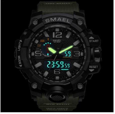 SMAELスマイル腕時計 メンズ メンズウォッチ 防水 スポーツ アナログ表示 デジタル クオーツ腕時計 多機能 ミリタリー ライト 運動腕時計_画像2