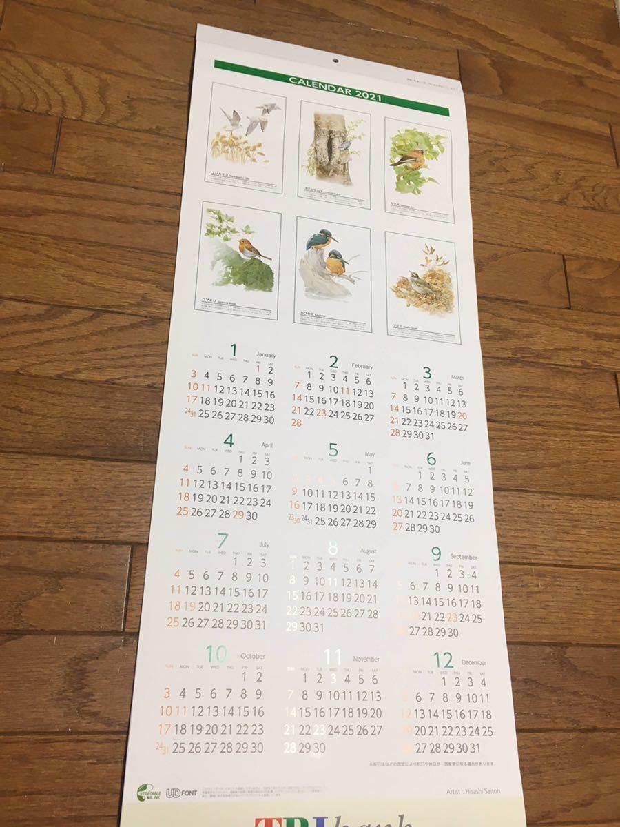 ★2021★鳥の壁掛けカレンダー★スリムで便利!★大安入り★bird★バード_画像1