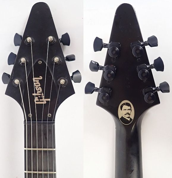 ★Gibson/ギブソン Gothic Flying V/フライングV 2000年製 ダンカンPU搭載 ハードケース付 同梱×/200_画像4