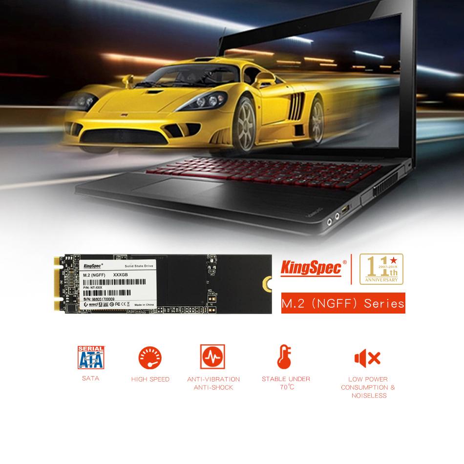 SSD KingSpec 256GB M.2 2280 SATA3 内蔵型 NT-256 高速 NGFF 新品未使用 3D NAND TLC (a1400)_画像2