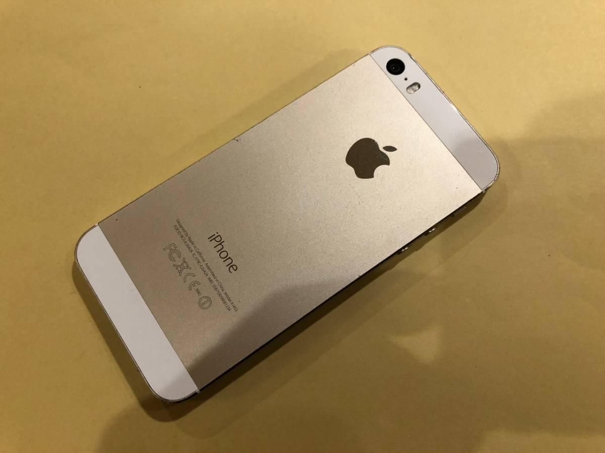 docomo iPhone 5S ゴールド 32GB A1453 ジャンク品(即決)_画像3