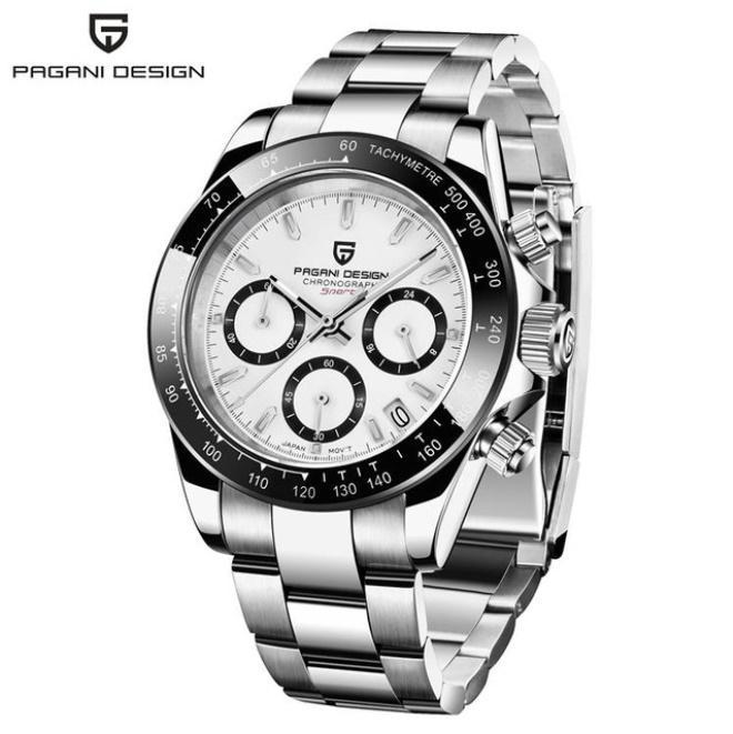 パガーニデザイントップブランド男性スポーツ時計の高級メンズ防水腕時計新ファッションカジュアルメンズ腕時計レロジオmasculino_silver white