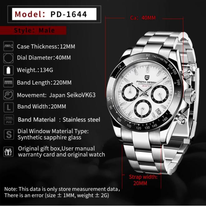 パガーニデザイントップブランド男性スポーツ時計の高級メンズ防水腕時計新ファッションカジュアルメンズ腕時計レロジオmasculino_画像6