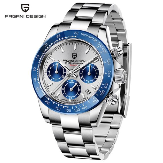 パガーニデザイントップブランド男性スポーツ時計の高級メンズ防水腕時計新ファッションカジュアルメンズ腕時計レロジオmasculino_silver blue