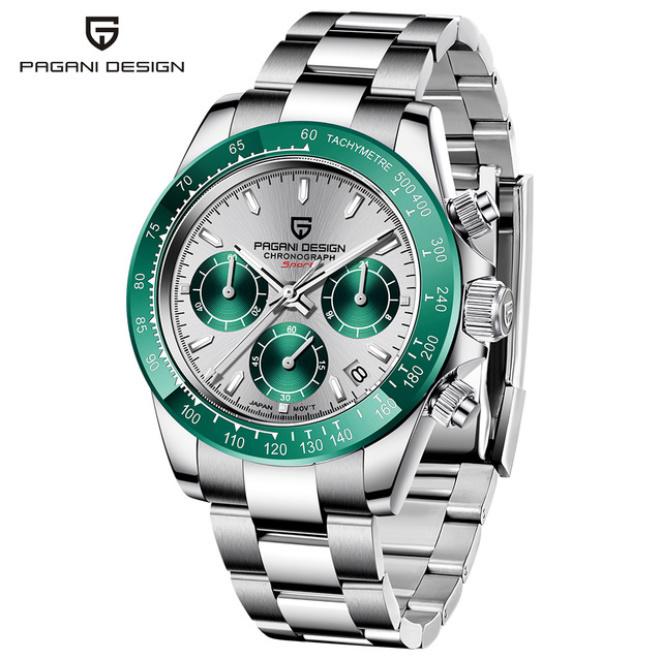 パガーニデザイントップブランド男性スポーツ時計の高級メンズ防水腕時計新ファッションカジュアルメンズ腕時計レロジオmasculino_silver green