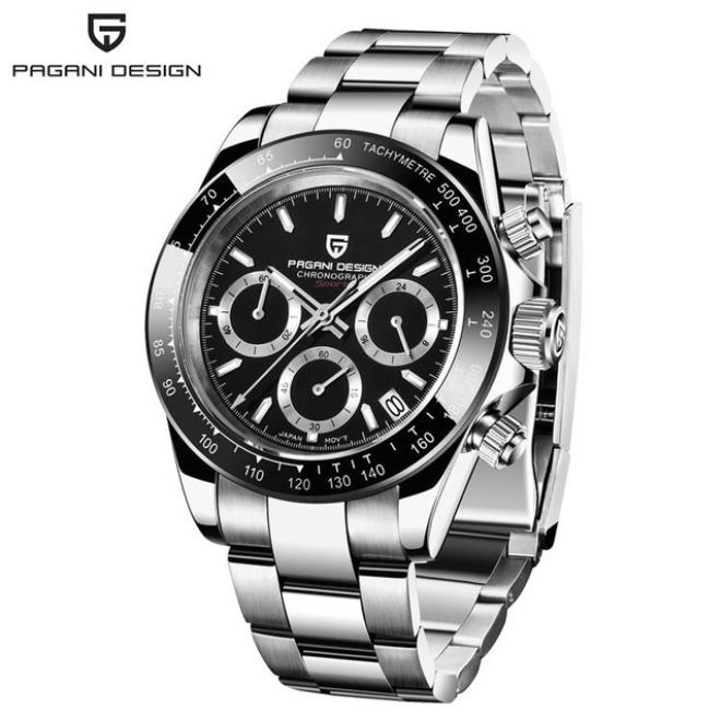 パガーニデザイントップブランド男性スポーツ時計の高級メンズ防水腕時計新ファッションカジュアルメンズ腕時計レロジオmasculino_silver black
