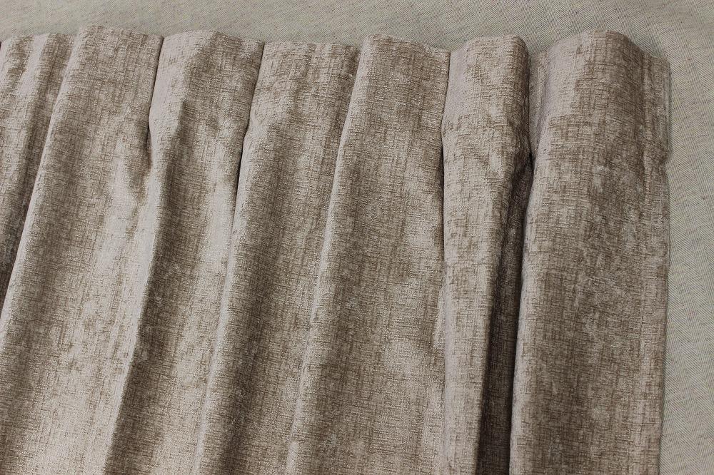☆厚地ドレープカーテン:100×110cm:2枚 BE/無地系/エターナル/M型プリーツ☆A986_画像4