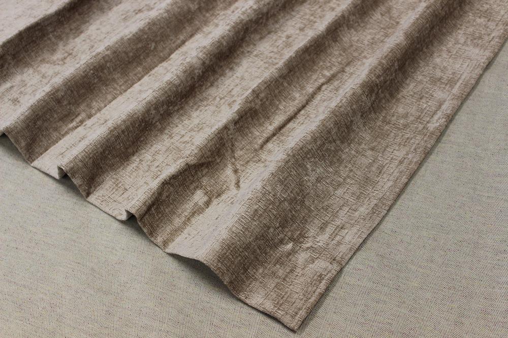 ☆厚地ドレープカーテン:100×110cm:2枚 BE/無地系/エターナル/M型プリーツ☆A986_画像1