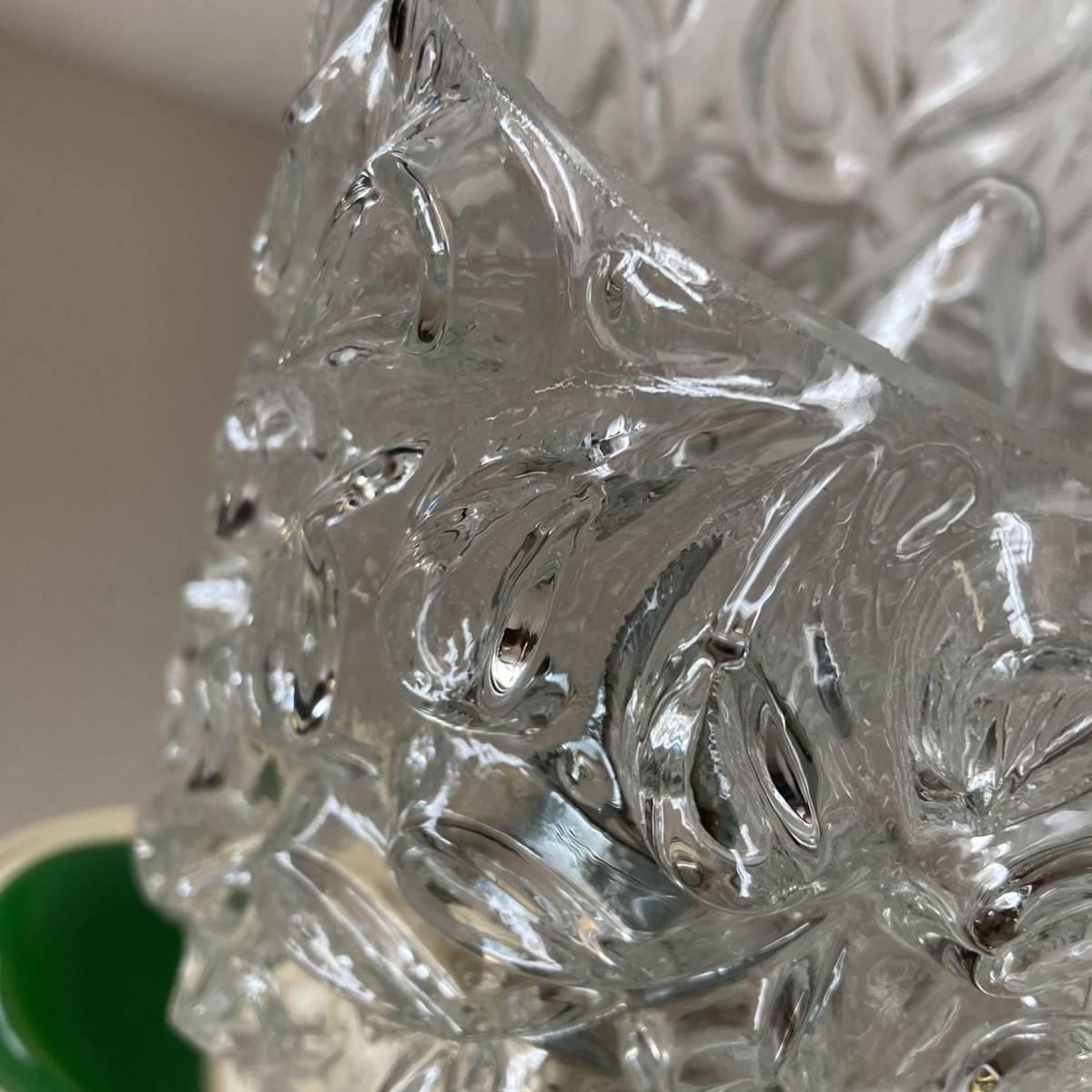 ドイツ70's ヴィンテージ ガラス シェード テーブルランプ ベッドサイド レトロ スペースエイジ インテリア_画像6
