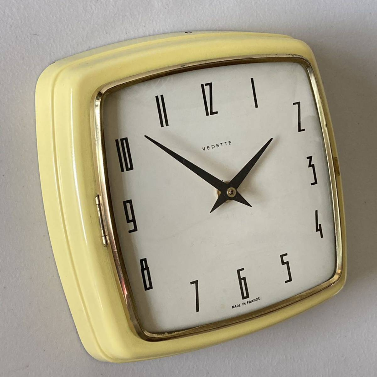 フランス ヴィンテージ ウォールクロック ミッドセンチュリー インテリア ディスプレイ 店舗什器 掛け時計 デザイン_画像2