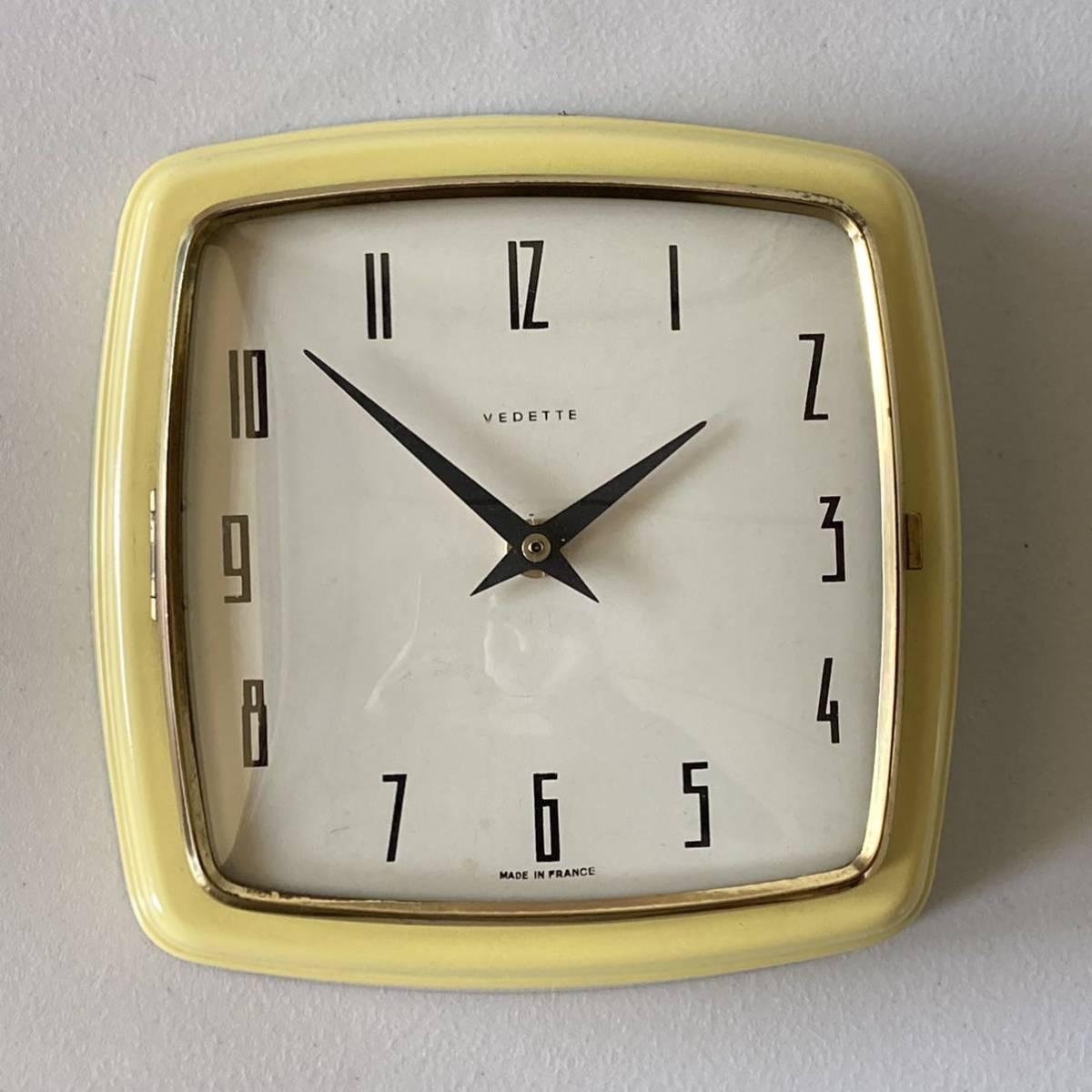フランス ヴィンテージ ウォールクロック ミッドセンチュリー インテリア ディスプレイ 店舗什器 掛け時計 デザイン_画像1