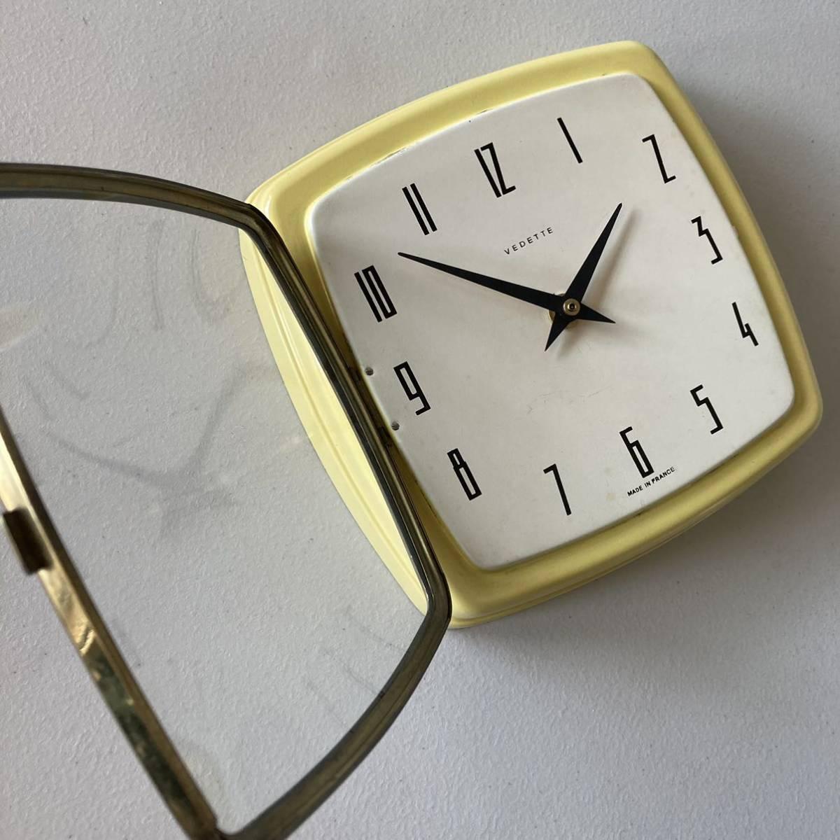 フランス ヴィンテージ ウォールクロック ミッドセンチュリー インテリア ディスプレイ 店舗什器 掛け時計 デザイン_画像7